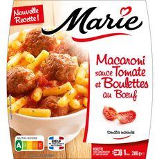 MARIE Boulette de boeuf et ses macaronis 1 portion 280g