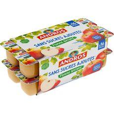 ANDROS Spécialité pomme sans sucres ajoutés 16x100g