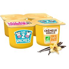 Les 2 vaches LES 2 VACHES Crème dessert bio vanille