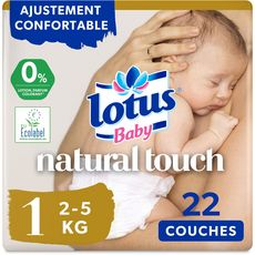 LOTUS BABY Natural touch couches taille 1 (2-5kg) 22 couches