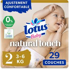 LOTUS BABY Natural touch couches taille 2 (3-6kg) 29 couches