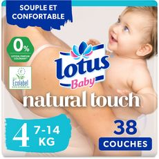 LOTUS BABY Natural touch couches taille 4 (7-14kg) 38 couches