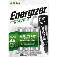 ENERGIZER Energizer Piles LR03/AAA power plus rechargeables 1,2v 4 pièces