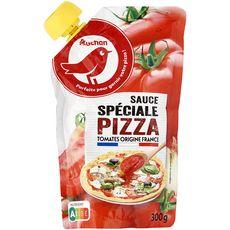 AUCHAN Sauce pizza 100% français, en poche 300g