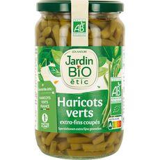 JARDIN BIO ETIC Haricots verts extra-fins coupés, en bocal 660g