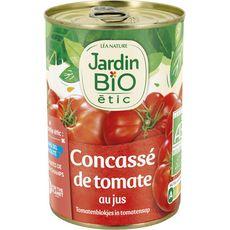 JARDIN BIO ETIC Concassé de tomates fraîches au jus sans sel ajouté 400g