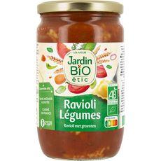 JARDIN BIO ETIC Ravioli aux légumes, en bocal fabriqué en France 675g