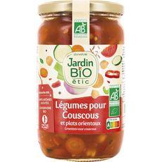 JARDIN BIO ETIC Légumes pour couscous et plats orientaux, en bocal 660g