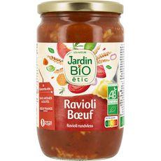 JARDIN BIO ETIC Ravioli au bœuf origine France en bocal 700g