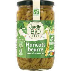JARDIN BIO ETIC Haricots beurre extra-fins coupés, en bocal 660g