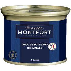 MAISON MONTFORT Maison Montfort Bloc de foie gras de canard 4 à 5 parts boîte 140g 3-4 portions 140g