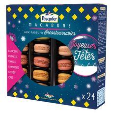 PASQUIER Macarons de Noël aux parfums incontournables 24 pièces 240g