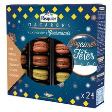 PASQUIER Macarons aux parfums gourmands 24 pièces 240g