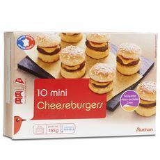 AUCHAN Mini cheeseburger 10 pièces 155g