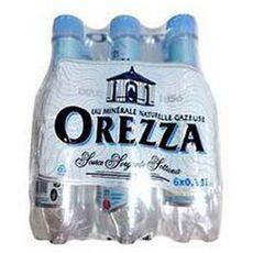 OREZZA Eau minérale naturelle gazeuse bouteille 6x33cl