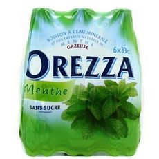 OREZZA Eau minérale gazeuse aromatisée à la menthe bouteilles 6x33cl
