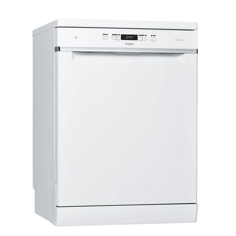 WHIRLPOOL Lave vaisselle pose libre  WFC3C33PF, 14 couverts, 60 cm, 42 dB, 8 programmes