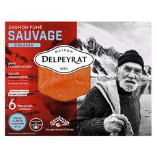 DELPEYRAT Saumon fumé sauvage 6 tranches 180g