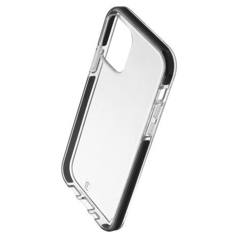 CELLULAR Coque pour Apple iPhone 12 et 12 Pro - Transparent/Noir