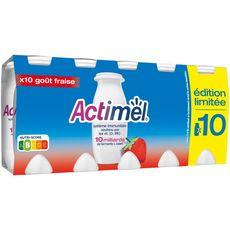ACTIMEL Yaourt à boire multifruits 10x100g