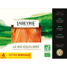 LABEYRIE Labeyrie Saumon fumé bio x4 140g 4 tranches 140g