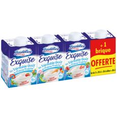 BRIDELICE Exquise Crème fraiche semi épaisse 15%mg 4x20cl dont 1 offerte