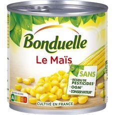 BONDUELLE Maïs sans résidu de pesticides sans OGM ss conservateur cultivé en France 285g