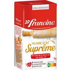 FRANCINE Farine de blé suprême première extraction T45 1kg