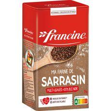 FRANCINE Farine de sarrasin 100% blé noir multi-usages 1kg