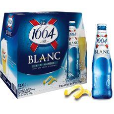 1664 1664 Bière blanche 5% bouteilles avec une pointe d'agrumes