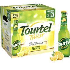 TOURTEL Bière Twist sans alcool au jus de citron bouteilles 12x27,5cl