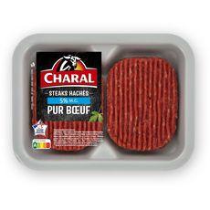 CHARAL Steaks Hachés Pur Bœuf 5%mg 2 pièces 250g