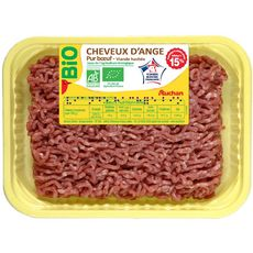 AUCHAN Haché Vrac Pur Bœuf 15%mg bio 350g