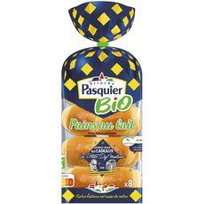 PASQUIER Pains au lait bio 8 pièces 280g