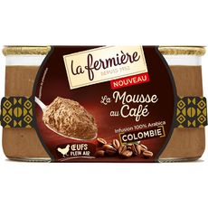 LA FERMIERE La Fermière La mousse au café colombien 2x80g 2x80g