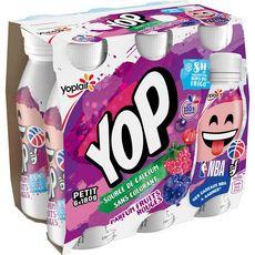 PTIT YOP P'tit Yop Yaourt à boire aux fruits rouges 6x180g 6x180g