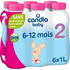 CANDIA BABY Lait 2ème âge liquide dès 6 mois 6x1l