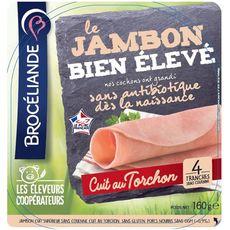 Brocéliande Jambon cuit au torchon avec couenne 4 tranches 160g