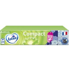 LOTUS Paquets de mouchoirs blancs compact 24x7 mouchoirs