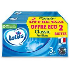 Lotus Boîte de mouchoirs blancs 2x90