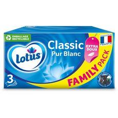 LOTUS Boîte de mouchoirs pur blanc 3 épaisseurs 140 mouchoirs