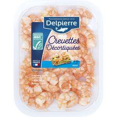 DELPIERRE Crevettes ASC décortiquées natures petit calibre 100g