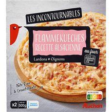 AUCHAN Flammekueches Alsaciennes 2 pièces 500g