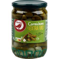AUCHAN Cornichons extra fins aux 5 aromates 360g
