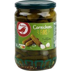 AUCHAN Cornichons fins aux 5 aromates 360g