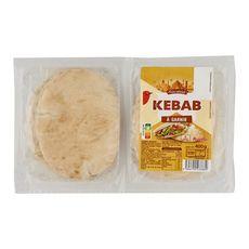 AUCHAN Pain Kebab à garnir 6 pièces 400g