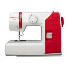VERITAS Machine à coudre MARIE - Blanc et rouge