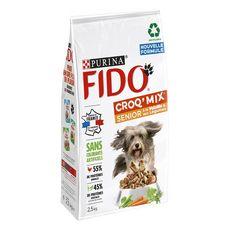 FIDO Fido croq'mix croquettes volaille et légumes pour chien sénior 2,5kg