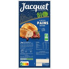 JACQUET Petits pains nature bio 6 pièces 300g