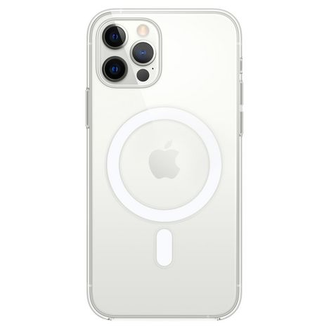 APPLE Coque MagSafe pour Apple iPhone 12 et 12 Pro - Transparent